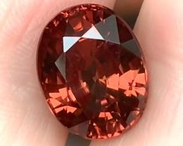 11.55ct CERTIFIED Bronze Pink Purple Zircon Amazing Jewel