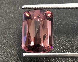 Fancy Cut 6.46 Carats Clean Purplish Pink Tourmaline/Rubellite