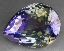 7.54 CTS IGI CERTIFIED NATURAL TANZANITE (ZOISITE) GEMSTONE