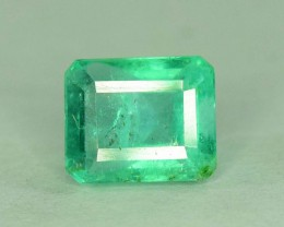 1.00 cts Super Top Quality Emerald Cut Untreated Colombian Emerald Gemstone