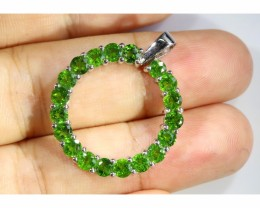 Peridot Ring Of love silver Pendant  [SJ4793]