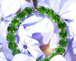 Peridot Ring Of love silver Pendant  [SJ4794]