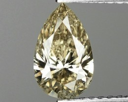 1.02 CTS UNTREATED NATURAL FANCY YELLOWISH BROWN COLOR LOOSE DIAMOND SI2