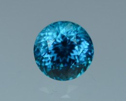 7.88 Cts Magnificent Lustrous 10mm Round Blue Zircon