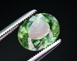 3.55 Ct Top Color Natural Green Apatite. ARA