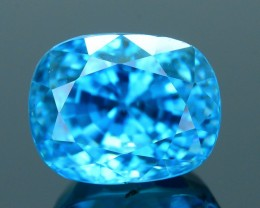 AAA Brilliance 6.62 ct Blue Zircon Cambodia SKU.9
