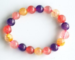 144.5Ct Natural Mix Colour Crystal Bracelet