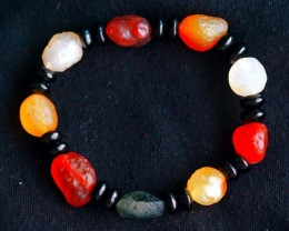 145.0Ct Natural Candy Agate Bracelet