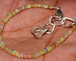 16 Crt Natural Ethiopian Welo Fire Opal Gemstone Beads Bracelet 60
