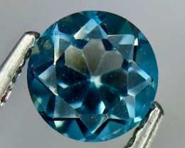 0.56 Crt Natural London Blue Topaz Faceted Gemstone.( AG 75)