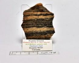 Acasta Gneiss, Oldest Rock 4.2byo Acasta River Canada (GR98)