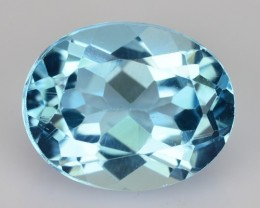 2.89 Cts Natural Sky Blue Topaz Oval Cut Brazil