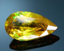 Rare AAA Fire 1.14 ct Malayaite Sphene Bright Yellow Badakhshan Sku-19