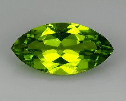 3.10 Cts.Magnificient Top Sparkling Intense Green Peridot