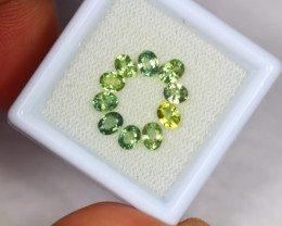 2.38ct Green Sapphire Oval Cut Lot V2715