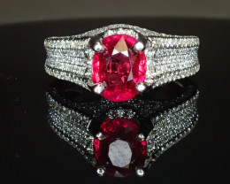 2.37ct Mozambique Ruby Ring