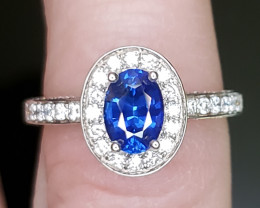 .96ct Blue Sapphire Ring