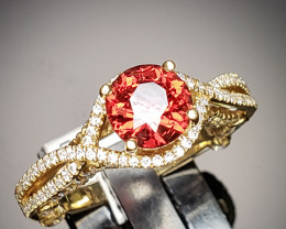 1.46ct Orange Burma Spinel Ring