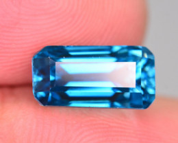 7.90 Ct Top Grade Natural Fancy Shape  Vibrant Blue Zircon