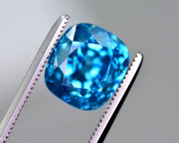 8.50 Ct Top Grade Natural Vibrant Blue Zircon