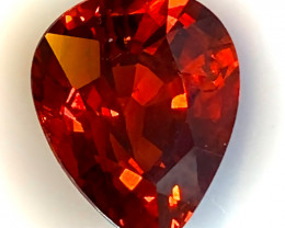 6.25ct Certified Orange Spessartite Garnet - Stunning Fiery Jewel