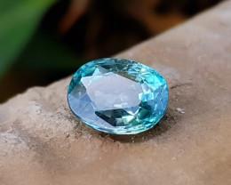 2.95 Ct Natural Blueish Transparent Zircon Gemstone