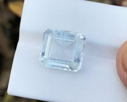 8.70 Ct Natural Transparent Aquamarine  Gemstone