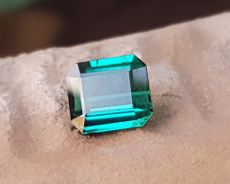 1.50 Ct Natural Blueish Green Transparent Tourmaline Gemstone