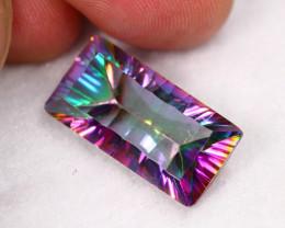 Lot 4 ~ 13.29Ct Millennium Cut Rainbow Mystic Topaz Auction