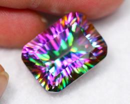 Lot 9 ~ 20.84Ct Millennium Cut Rainbow Mystic Topaz Auction