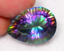 Lot 12 ~ 22.20Ct Millennium Cut Rainbow Mystic Topaz Auction