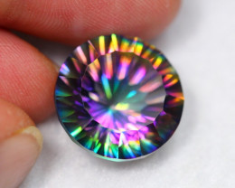 Lot 14 ~ 20.43Ct Millennium Cut Rainbow Mystic Topaz Auction