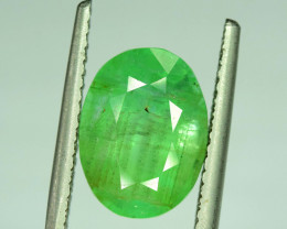 5.55 ~ Carats Oval Cut Deep Color Beautifull Zambian Emerald Gemstone