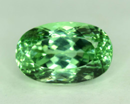 No Reserve - 14.65 Carats Lush Green Spodumene Gemstone From Afhganistan