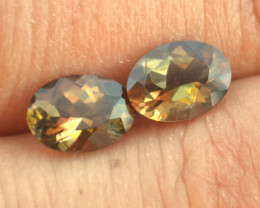 2.60 Carats of Andalusite -- Great Oval Cut Matched Pair