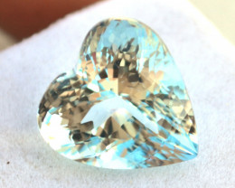 14.22 Carat Topaz -- Amazing Heart Shaped Gem!