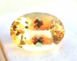 11.20 Carat Heliodor -- Nice Oval Cut Stone