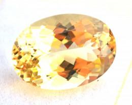 17.16 Carat Heliodor -- Nice Oval Cut Stone