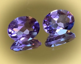TOP VIOLET SHINING AMETHYST PAIR - VVS -  9 X 7.00mm NR