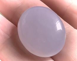 36.21ct Large Pale Mauve Chalcedony gem Cabochon - No reserve ~
