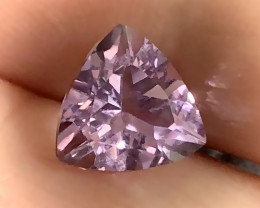 Trillion cut Pink Purple Amethyst  VVS gem No reserve ~