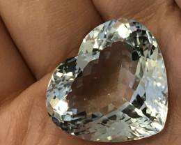 Certified Sparkling Blue Topaz Heart