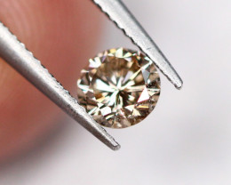 Lot 7 ~ 0.27Ct Natural VS Clarity Champagne Color Diamond 4.1mm