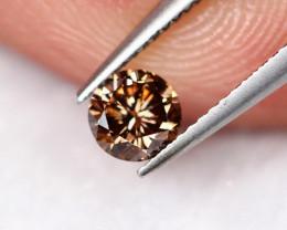 Lot 8 ~ 0.23Ct Natural VS Clarity Cognac Color Fancy Diamond