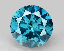0.34 Ct Blue Diamond Top Class Gemstone Db14