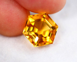4.1cts Natural Top Colour and Cutting Orangish Yellow Citrine