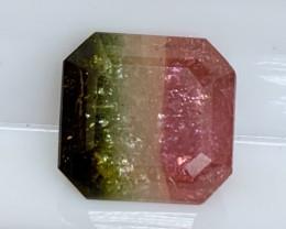 3.60 cts Tricolor Tourmaline - No Reserve Auction