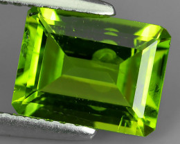 2.10 Cts High Best Natural Apple Green octogon Pakistan Peridot~