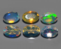 1.55 CTS MEXICAN OPAL! NATURAL OVAL CUT EXCELLENT PLAY OF COLORS ! AAA