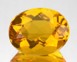 3.30 Cts Natural Fire Opal Yellowish Orange Oval Mexican Gem